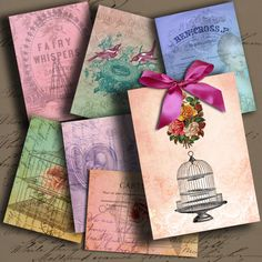 Romantic ATC ACEO or Jewelry Holders 25 X 35 by DigitalPerfection, $4,00