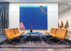 Drawing Room at Arts Club of Chicago Draws Miesian Influence