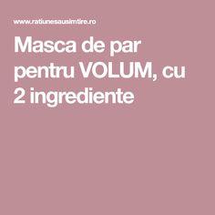 Masca de par pentru VOLUM, cu 2 ingrediente