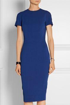 Victoria Beckham|Silk and wool-blend crepe dress|NET-A-PORTER.COM