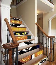 Halloween Stairs home art cool paint stairs decorate steps pumpkin halloween