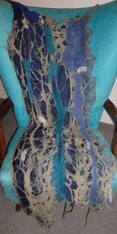 WENDE - SCHAL SEIDE & WOLLE FILZ NEU LAGENLOOK HIPPIE NANOFILZ felt scarf in Kleidung & Accessoires, Damen-Accessoires, Schals & Tücher | eBay