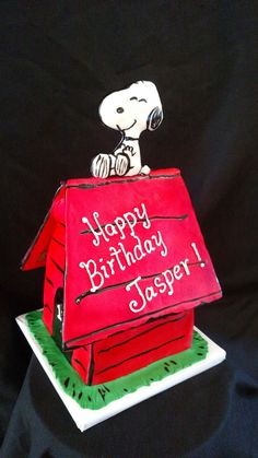 Snoopy doghouse cake by Christina's Cakery