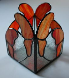 Stained Glass Butterfly Candle Box on Etsy, $25.00