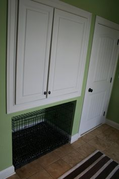Dog Kennel, maybe even under the stair case