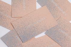 Virgin Daisies, branding, business cards, pink, blush, lilac, paint splatter