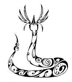 Tribal Dragonair tattoo