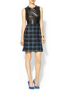 Leather Combo Marlee Dress by Shoshanna, from Piperlime, $425