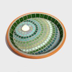 Verdant+Ripple+Mosaic+Bird+Bath £35.00