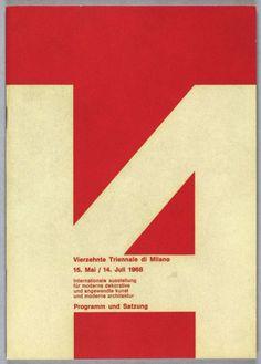 Albe Steiner, Vierzehnte Triennale di Milano 15. Mai / 14. Juli 1968, Triennale di Milano, Milano, 1968, Museum für Gestaltung Zürich