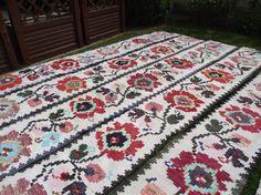 Vintage Handmade Primitive antiquerustic rug  от RussianshawlMayya