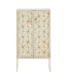 Mueble con puertas de metal blanco An. 66 cm Kaleidoscope