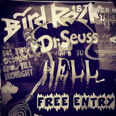 DR SEUSS GOS TO HELL ... This Saturday night.. #freeevent #fancydress #birdrockcafe #restaurant #beachbar #cafe #thinkoutsidethebox #halloween #3228 #janjuc #greatoceanroad #summer #coastalliving #bellsbeach #torquay #sociallife #surfcoast by birdrockcafe