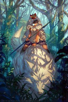 Princess Mononoke / Mononoke Hime (もののけ姫) - Mononoke Sunrise by JetEffects Anime Yugioh, Manga Anime, Anime Body, Anime Pokemon, Film Anime, Art Anime, Anime Kunst, Anime Expo, Hayao Miyazaki