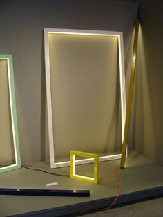 Composition Light' objects by Miya Kondo, presented as part of the graduate projects on show at the Design Academy Eindhoven