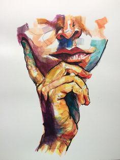 by Noel Badges Pugh Watercolor Art, Art Painting, Art Drawings, Painting, Illustration Art, Canvas Art, Figurative Art, Portrait Art, Art Portfolio