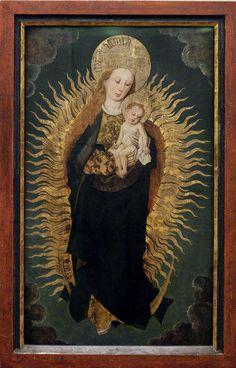 La vierge à l'enfant sur un croissant de lune (Musée Unterlinden, Colmar, France)