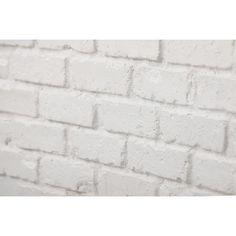 Brick Veneer Panels, Faux Brick Wall Panels, Brick Wall Paneling, Brick Flooring, White Paneling, Fake Brick Wall, Whitewash Brick Backsplash, White Brick Backsplash, Brick Tiles