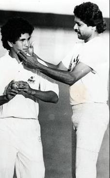 Sachin Tendulkar & Kapil Dev