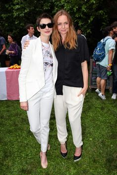Anne Hathaway, Jim Carrey spotted at Stella McCartney Spring 2013 preview