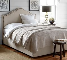 "Overall: 63.75"" W x 86.5"" L x 57"" H Headboard: 63.75""W x 57""H x 3.25"" thickness. Fallon Upholstered Bed & Headboard 