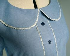 Handmade Jane: Tutorial: How to apply a lace trim to a Peter Pan collar