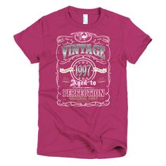 Aged to Perfection 1997 Short sleeve women's t-shirt