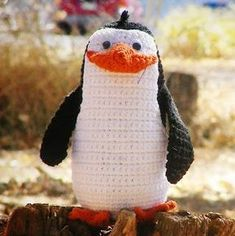 free crochet patterns: rico and the penguins of madagascara | make handmade, crochet, craft