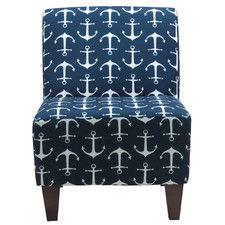 Penelope Sailor Anchor Armless Slipper Chair