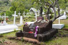 Paul Gauguin grave in Hiva Oa, Marquesas, French Polynesia