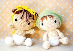 Crochet babies - so cute! I wonder if the shop owner will put the pattern up for sale again if people ask?