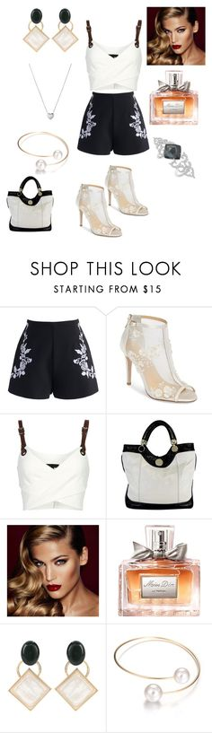 """Sans titre #322"" by susanaxalex ❤ liked on Polyvore featuring Chicwish, Bella Belle, Barbara Bui, Jill Stuart, Charlotte Tilbury, Christian Dior, Marni and Links of London"