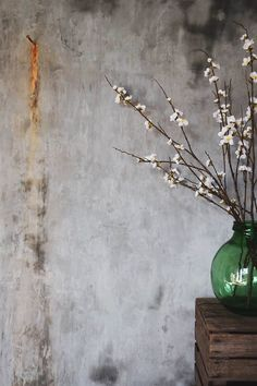 Distressed walls create the perfect furniture backdrop