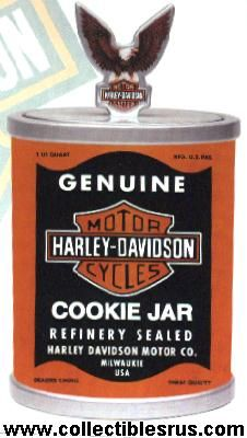 Harley Davidson Oil Can Cookie Jar