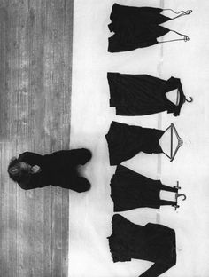 YOHJI YAMAMOTO in Paris, making final revisions to the show for S/S 1991