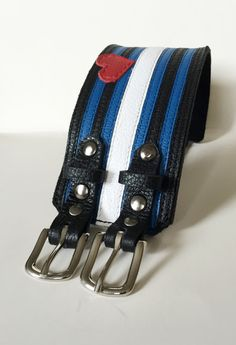 Leather pride bracelet lgbt bracelet cuff by ChristyKeysCreations