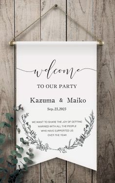 PIARYオリジナル ウェルカムフラッグ   ウェルカムボードならPIARY ピアリー Invitation Card Design, Invitation Cards, Invitations, Welcome Boards, Tree Wedding, Wedding Coordinator, Getting Married, Backdrops, Signs