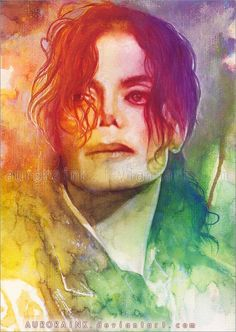Wartercolor Paintings by German artist Aurora Wienhold. Michael Jackson- This is it Michael Jackson Kunst, Michael Jackson Drawings, Michael Jackson Smile, Michael Love, Michael Art, Watercolor Portraits, Watercolor Paintings, Watercolor Landscape, Painting Art