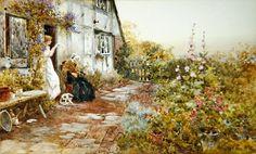 Grandmother, 1894 (w/c on paper) by Thomas James Lloyd - print