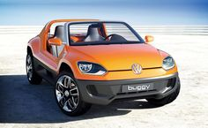 VW has a knack for making fun cars, and the Volkswagen Buggy Up Concept is no exception. Based on the company's new Up! city car and inspired by the Beetle-based beach buggies of the '60s, the Buggy Up features a reinforced underbody, a roof-less and door-less exterior, neoprene-covered seats, a completely waterproof interior, and an iPod-powered infotainment system that pulls out to serve as a portable sound system.