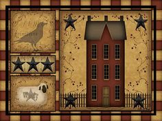 Wall Art From The Heart: NEW! Primitive Country Art