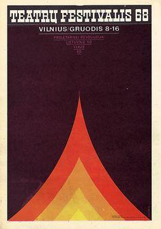 Poster for Theatre Festival 1968 V.Kausinis 1968