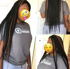 Top 60 All the Rage Looks with Long Box Braids - Hairstyles Trends Box Braids Hairstyles, Braided Hairstyles For Teens, Try On Hairstyles, Black Girls Hairstyles, School Hairstyles, Simple Hairstyles, Protective Hairstyles, Protective Styles, Pretty Hairstyles