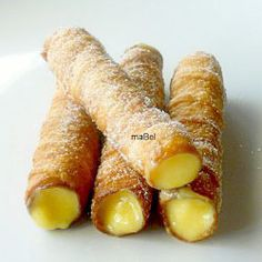 Spanish pastry with cream