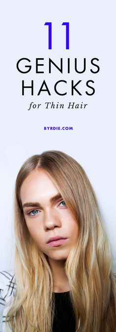 Thicker Hair Remedies 11 hair hacks for fine, thin strands - These thin hair hacks will instantly volumize even the nimblest of strands. Keep reading for the best ways to get thicker hair. Haircut Styles For Women, Short Haircut Styles, Cute Short Haircuts, Thin Hair Styles For Women, Layered Haircuts, Thin Hair Tips, Long Thin Hair, Perm For Thin Hair, Wavy Hair