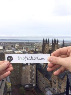 """TripFiction pops up in EDINBURGH (choose your next top read by location and """"see a location through an author's eyes) www.tripfiction.com"""
