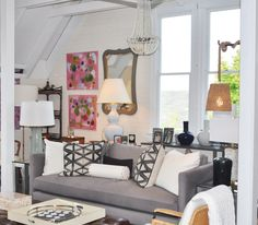 Monochromatic seating design at Mecox Southampton #interiordesign #home #decor #Hamptons #design