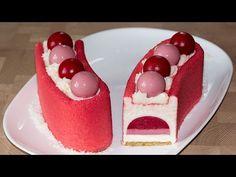 Муссовый малиновый торт (форма Звезда Арены) | Mousse Raspberry Cake (KIT STELLA DEL CIRCO) - YouTube