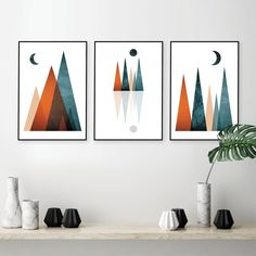 Maroon Walls, Burgundy Walls, Orange Wall Art, Orange Walls, Printing Services, Online Printing, Home Printers, Minimalist Art, Beautiful Artwork