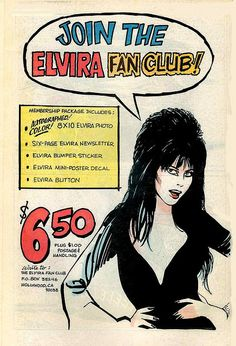 Join the Elvira fan club!